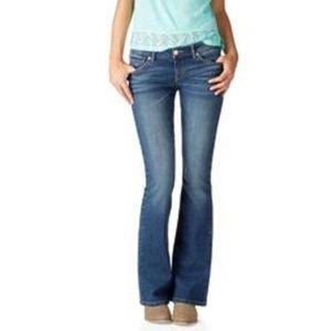 Low-Rise Hailey Flare Jeans (Size 3/4 Short)